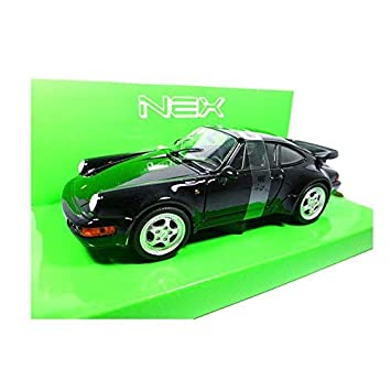 Welly 24023 Porsche 911 (964) Turbo 3.0 Negro 1974 Escala 1:24 Coche a Escala: Amazon.es: Juguetes y juegos