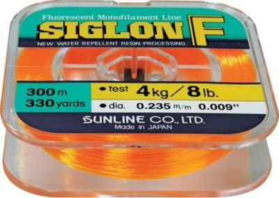 Sunline 63000710 Siglon F Fluorescent Orange 15 lb Fishing Line, Fluorescent Orange, 330 yd