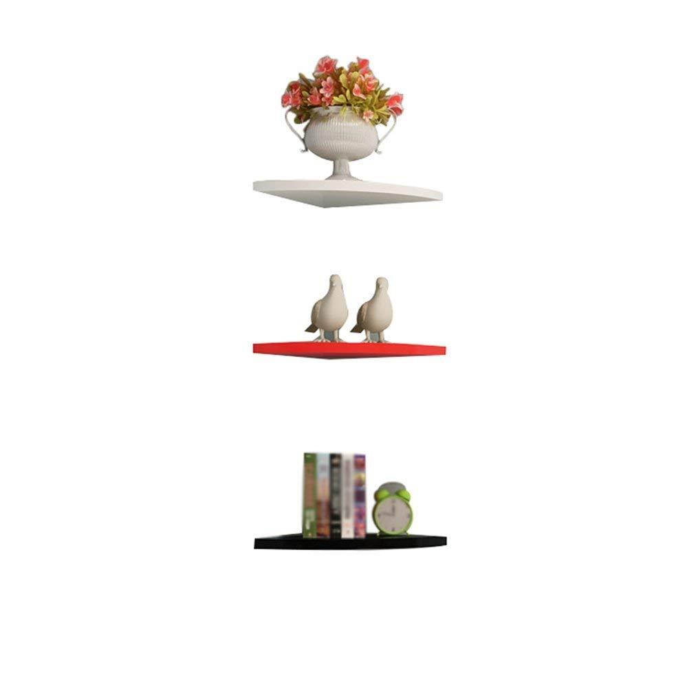 YCT 扇形仕切り - アングルフレームアングルフレームシェルフフリーホールウォール装飾フラワーシェルフシェルフ (サイズ : 28cm) B07RTBGBRY  28cm