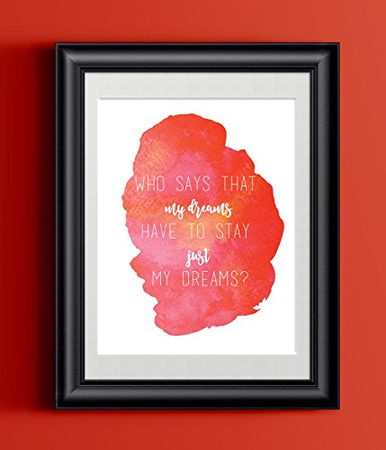 The Little Mermaid Quote Wall Decor | Who Says My Dreams | 8