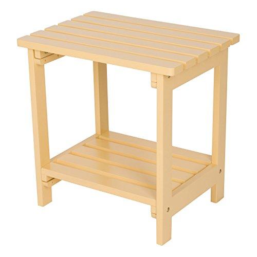 Shine Company Rectangular Side Table, Bee's Wax by Shine