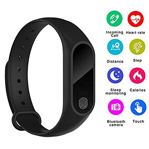 ONDY M2 IP67 Smart Bracelet Bluetooth Synchronous Motion Meter Step Bracelet Gift Custom Cycling Heart Rate Monitors Bluetooth Bracelet Fitness Tracker Watch,Calorie Counter Watch, GPS Band