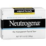 Neutrogena The Transparent Facial Bar Original Formula, Fragrance Free 3.50 oz (Pack of 10)