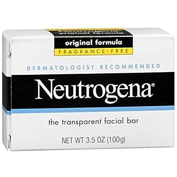 Neutrogena The Transparent Facial Bar Original Formula, Fragrance Free 3.50 oz Pack of 11