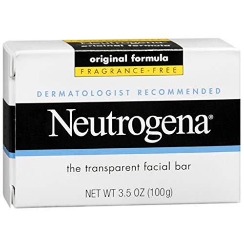 Neutrogena The Transparent Facial Bar Original Formula, Fragrance Free 3.50 oz (Pack of 10)