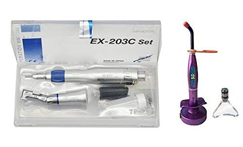 (SoHome Slow Low Speed Hand Complete Kit EX-203C Set 2H E-type NEW + 5W LED Curing Lamp Purple)