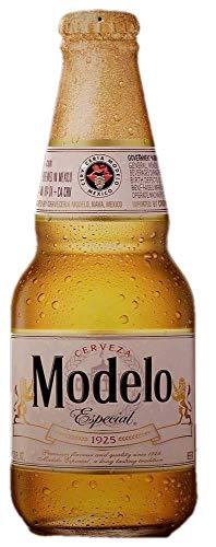 Ceveza Modelo Especial Bottle Shaped Metal Beer Tacker Sign