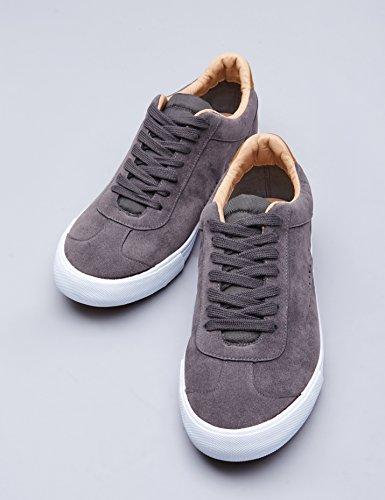 Grigio Pelle FIND Sneaker Uomo Scamosciata Basse in Grey CxPxwq1