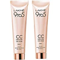 Lakme 9 to 5 Complexion Care Face Cream, Beige, 30g & Lakme 9 to 5 Complexion Care CC Cream, Honey, 30g