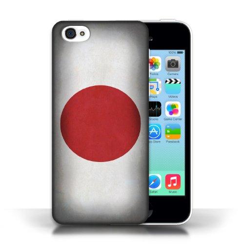 iCHOOSE Print Motif Coque de protection Case / Plastique manchon de telephone Coque pour Apple iPhone 5C / Collection Drapeau / Japon/japonois