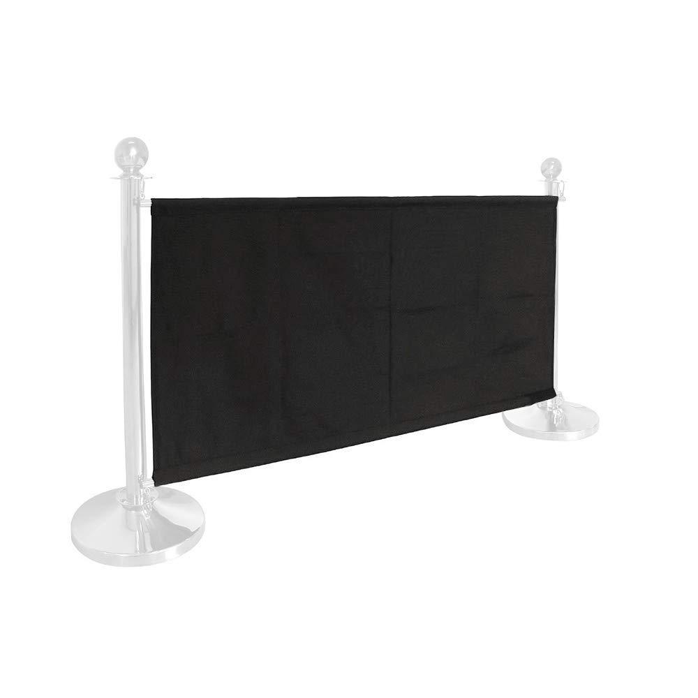 Cafe Banner Black Canvas For Cafe Barrier 1.5m