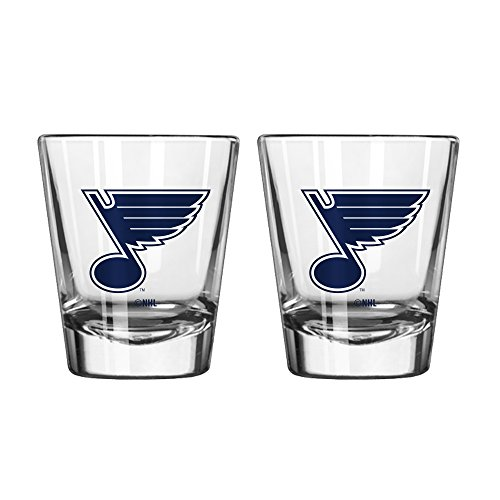 NHL St. Louis Blues Game Day Shot Glass, 2-ounce, 2-Pack