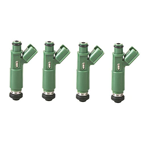 MOCA Engine Fuel Injector Set for 2000-2006 Toyota Corolla & Toyota Celica Matrix & Chevy Prizm & Pontiac Vibe 1.8L L4 Gas -