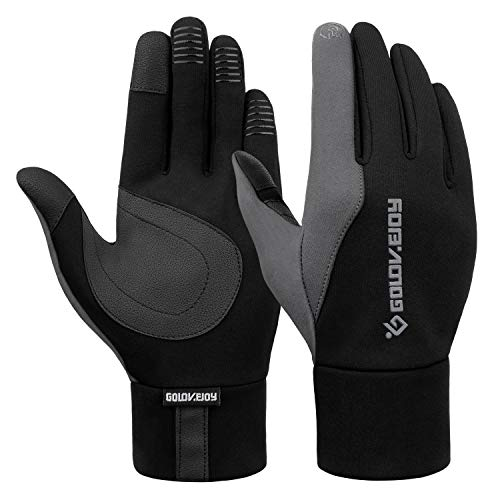 FitsT4 Winter Warm Touchscreen Gloves Cold Weather Windproof Non-Slip Glove for Cycling Running Winter Outdoor Activities Grey M
