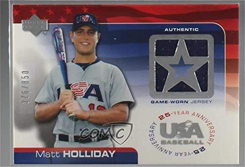Matt Holliday #376/850 (Baseball Card) 2004 Upper Deck USA Baseball 25-Year Anniversary - Jerseys #GU-MH