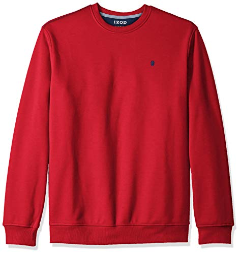 IZOD Mens Big and Tall Advantage Performance Solid Crew Fleece