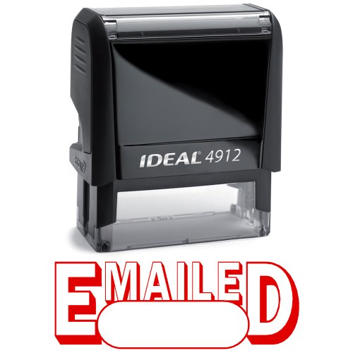 EMAILED II Red Office Stock Self-Inking Rubber Stamp