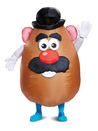 Mr Mrs Potato Head Halloween Costumes (Disguise Men's Mr. Potato Head Inflatable Costume, Brown, One Size)