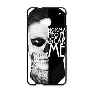 Artistic Fashion Unique Black htc m7 case