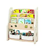 Toddler's Toy Storage Organizer with Plastic Bins for Kid's Bedroom Playroom (Color : White, Size : 80 * 35 * 95CM)