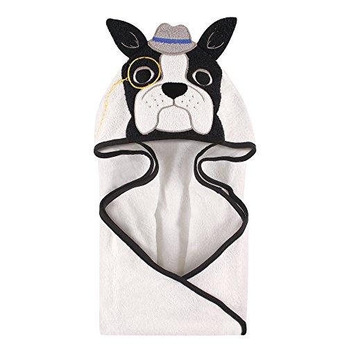 Hudson Baby Animal Face Hooded Towel, Dapper Dog