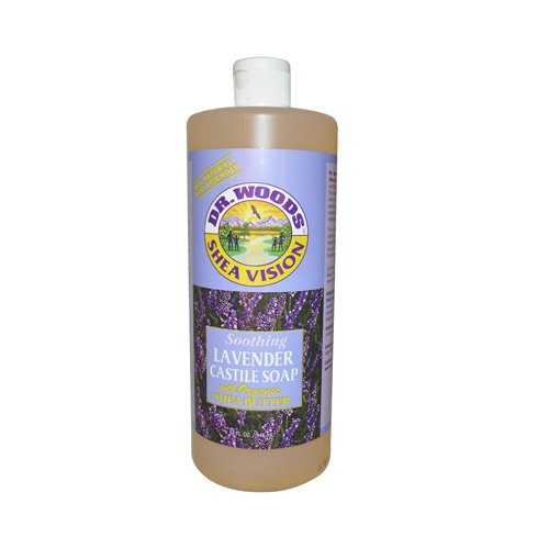 Dr. Woods Pure Castile Soap with Organic Shea Butter - Lavender - 32 - Soap Lavender Woods
