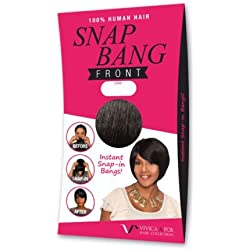 VIVICA A FOX 100% Human Hair - SNAP BANG FRONT (#2 - Dark Brown)