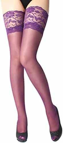 665bbdade52b8 GzxtLTX Super Sexy Womens Lingerie Net Lace Top Thigh Stocking Pantyhose