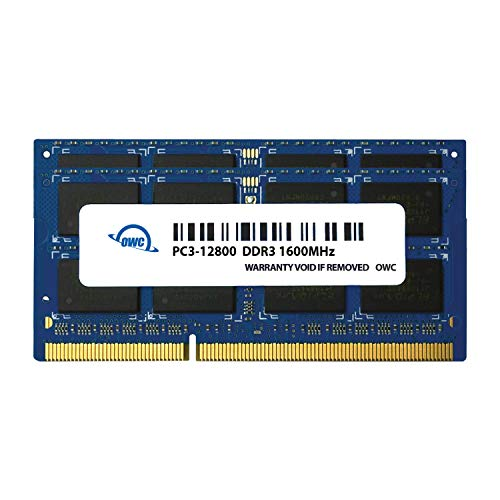 OWC 32GB (2x16GB) PC3-12800 DDR3L 1600MHz SO-DIMM 204 Pin CL11 Memory Upgrade Kit for 2015 iMac, (OWC1600DDR3S32P)