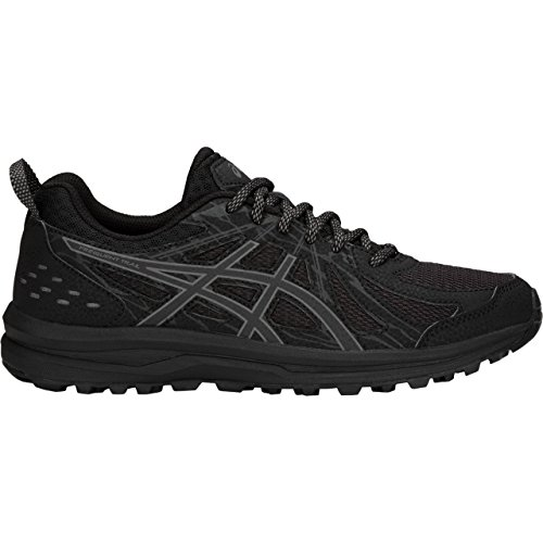ASICS 1012A022 Women's Frequent Trail Running Shoe, Black/Carbon - 9.5 B(M) US