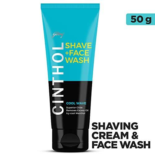 うめき心配無意味Cinthol Shaving + Face Wash, Cool Wave, 50g