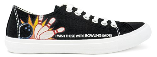 Ann Arbor T-shirt Co. Bowler Team Sneakers | Ik Wou Dat Deze Waren Bowling Schoenen Afdrukken Voor Vrouwen Of Mannen Zwart
