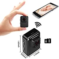 MILALOKO Mini WiFi Camera Wireless Small Camera 1080P HD 32GB Portable Sports Camera with IR Night Vision,Digital Video Recorder, Nanny Cam