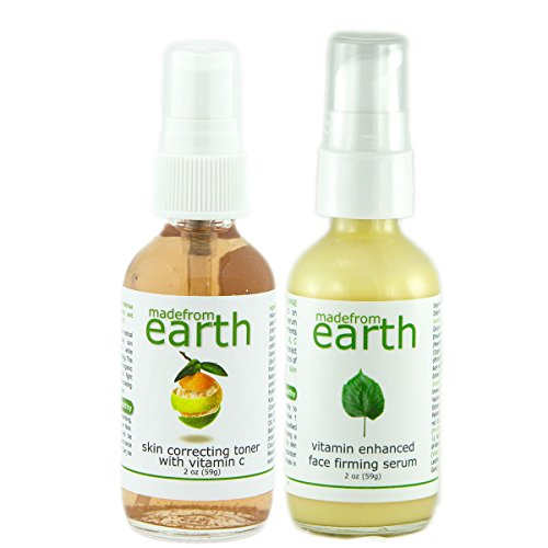 2 Step Anti Wrinkle Firming Treatment - Organic, Holistic, Healthy. Face Firming Serum & Skin Correcting Toner
