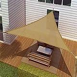Sol Maya Triangle Patio Sun Shade Sail - Sand Color