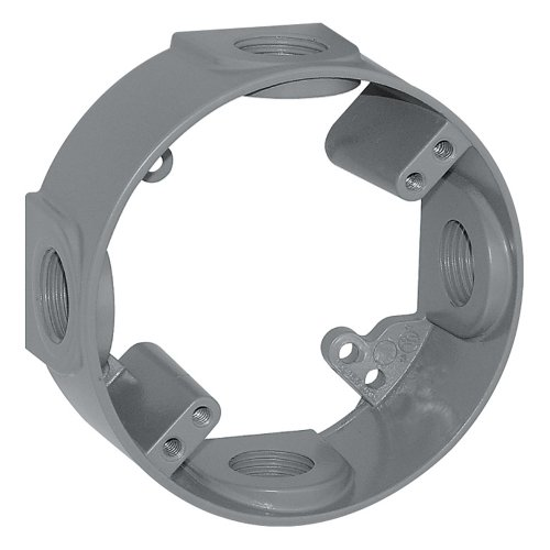 Sigma Electric 14236 1/2-Inch 4 Hole Round Extension Ring, Gray ()