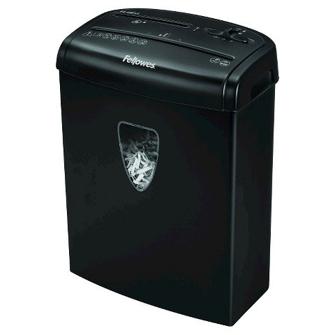 Fellowes 8 Sheet Cross Cut Shredder - Black