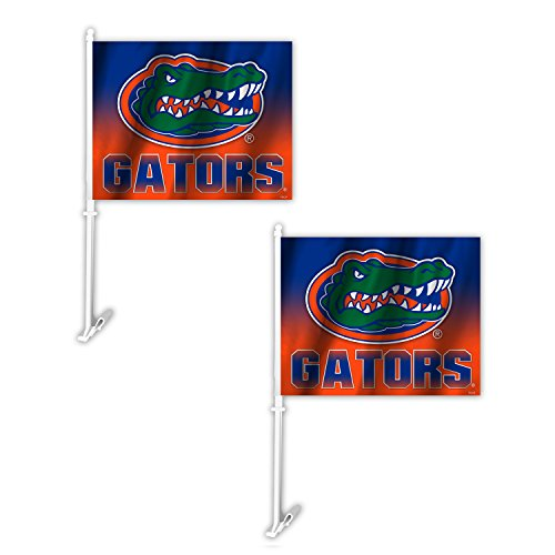 Fremont Die NCAA Florida Gators Ombre Car Flag (2 Pack), One Size, Blue