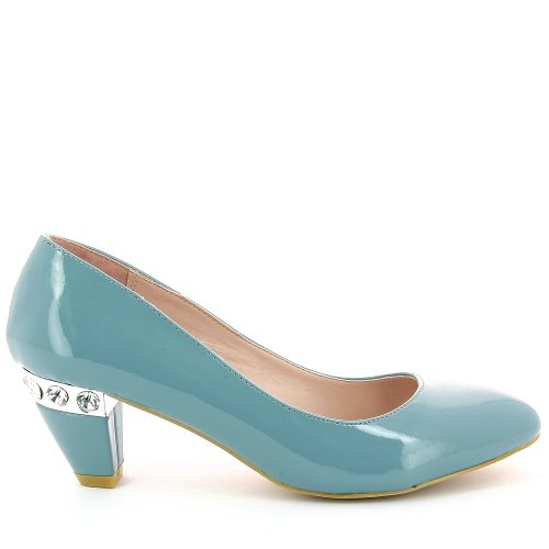 Go Chaussures Bleu Tendance Femmes Bq8JHn5C