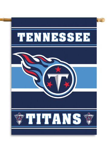 NFL Tennessee Titans 2-Sided 28-by-40-Inch House (Tennessee Titans Bedding)