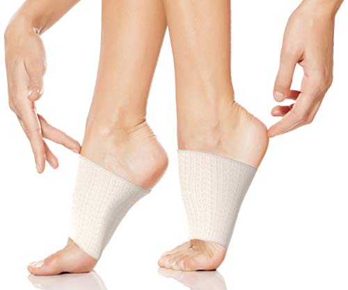 Physix Gear Arch Supports for Plantar Fasciitis – Best Foot Sleeve for Foot Arch Support & Arch Support Brace – Unisex Arch Support Sleeve – Compression Arch Sleeves, Foot Arch Supports Beige M