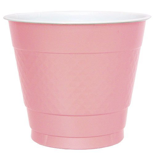 Hanna K. Signature Collection Plastic Cup, Pink, 9-Ounce, 50-Cups
