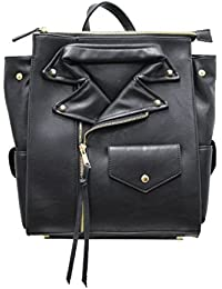 Black Moto Jacket Backpack