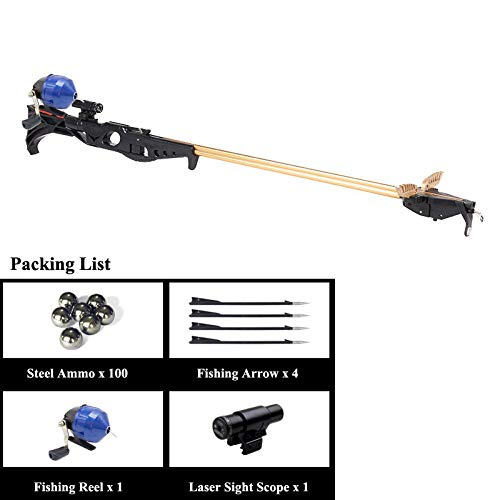 Smart Kingfisher Slingshot Fish Gun Speargun for Fishing, Hunting Spear Gun Multipurpose Shooting Support Arrow Ammo Equipted with Reel Sight Scope by Smart Kingfisher (Image #8)