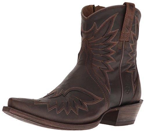 Ariat Women's Santos Western Cowboy Boot, Weathered Brown, 8 B US ()