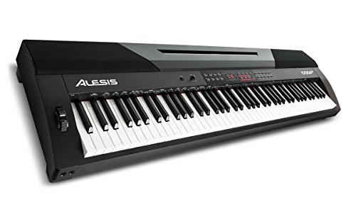 Alesis Coda Pro | 88-Key Digital Piano with Hammer-Action Keys, Split Keyboard & Voice Layering, and Included Sustain Pedal - Weighted Keys Piano