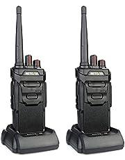 Retevis RT648 Walkietalkie Waterdicht IP67 PMR446 Licentievrij 16 Kanalen CTCSS & DCS VOX Alarm Radioapparaat Oplaadbaar Walkie Talkie (1 Paar, Zwart)