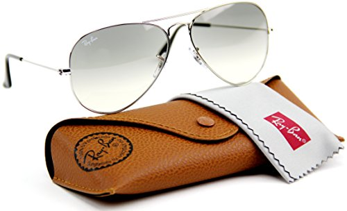Ray-Ban RB3025 003/32 Aviator Silver Frame / Light Gray Gradient Lenses - Discount Sunglasses Code