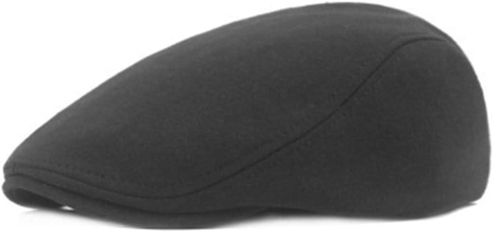 Mens Flat Hat Sun Berets Cap Blend Newsboy Ivy Hat Blend Classic Beret Hat