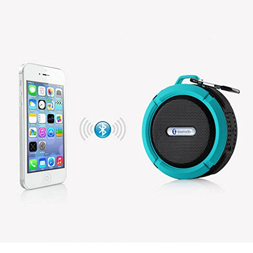SportsMind Bluetooth Speakers, IPX4 Waterproof Wireless Portable High Performance Bass Stereo Shower Speaker for Samsung iPhone iPad Sony LG Laptop MP3 Players Tablet (Blue) (Zebra Shower Head compare prices)